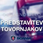 Občasno delo: Scania – predstavitev tovornjakov